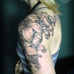 Lily, shoulder tattoo on TattooChief.com