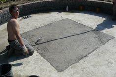 Vuurvast beton met een drainageput