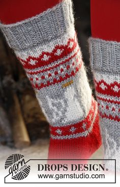 Angels to Knit – 22 free patterns Drops Design, Knitting Patterns Free, Free Knitting, Free Pattern, Magazine Drops, Drops Patterns, Knit Dishcloth, Crazy Socks, Patterned Socks