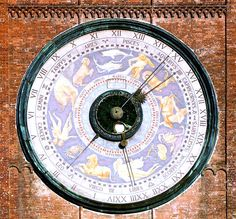 In the Torrazzo's fourth storey resides the largest astronomical clock in the world. The mechanism was built by Francesco and Giovan Battista Divizioli (father and son) between 1583 and 1588. The exterior, originally painted by Paolo Scazzola in 1483 but later repainted many times, represents the sky with zodiac constellations and the Sun and Moon moving through them.