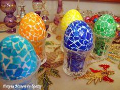Χρώμα Ζαχαροπλαστικής Archives - Γιαγιά Μαίρη Εν Δράσει Easter Eggs, Christmas Bulbs, Projects To Try, Candles, Holiday Decor, Crafts, Diy, Food, Home Decor