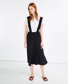 Immagine 1 di PANTALONI CULOTTE BRETELLE di Zara