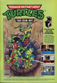 "Teenage Mutant ""Hero"" Turtles arcade game advert"