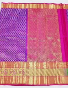 Kanchipuram pattu silk saree under catogery of royality because of its unique and heavy silk along with zari .These are very special for all festivals & Weddings In kanchipuram pattu Sarees,Huge patterns such as temple borders ,checks , stripes & floral butas . recently i inspired with images & scriptures & natural features like leaves , birds & animals kanchipuram saree vary widely in cost depending upon the intricacy of work, colors, pattern, material used like zari. Kanchipuram Saree, Handloom Saree, Silk Sarees, Simple Blouse Designs, Saree Border, Festival Wedding, Floral Stripe, Saree Blouse, Scriptures