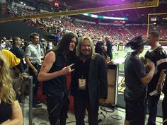 Joshua Alan (Sin City Sinner) and Vince Neil (Motley Crue).  I met both of these guys.  Joshua in Las Vegas, and met Vince Neil at a Denver Gold game in Denver, CO, back in the early 80's!  Both of these guys are down-to-earth and great performers!