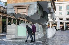Take my lightning but don't steal my thunder, by British artist Alex Chinneck (Photo: Jeff...