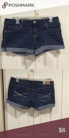 Denim Shorts These shorts are in great condition. I sewed the rolled hem down so they always stay. Aeropostale Shorts Jean Shorts