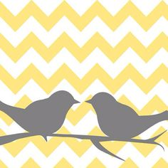 For the little wall in the living room you face when standing in the kitchen... option 1.  I would do the chevron in teal and white and would consider doing grey birds at a later date if I thought it needed it....