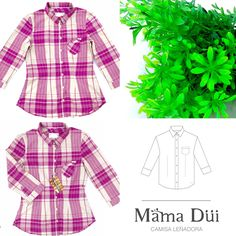 Camisa Leñadora - MD - Mama Düi - Isla de Margarita @mamadui