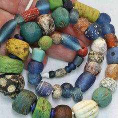 Ancient Glass Bead Strand