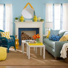 Sunny & colorful space to bring us into spring via @Centsational Girl