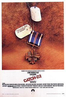 Catch-22 --------  Directed by	Mike Nichols Produced by	 John Calley Martin Ransohoff Screenplay by	Buck Henry Based on	 Catch-22 by Joseph Heller Starring	Alan Arkin Music by	Richard Strauss Cinematography	David Watkin Edited by	Sam O'Steen Production company Filmways Paramount Pictures Distributed by	Paramount Pictures Release dates June 21, 1970 Running time 122 minutes Country	United States Language	English