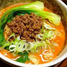 レシピとお料理がひらめくSnapDish - 41件のもぐもぐ - Tan tan ramen for lunch...ランチ..坦々ラーメン✨ by sanntina/サーンティナ