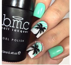 Palm trees add a beachy feel. | Dazzle | Pinterest | Colorful nails ...