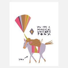 Magical Unicorn Pony 8x10 now featured on Fab.