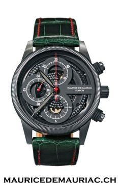Swiss made watch from Maurice de Mauriac. Men's watches.