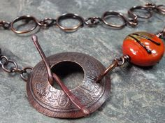Asian Influence  Artisan Lampwork and Copper by PattiVanderbloemen, $48.00