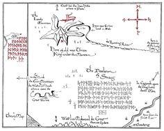 Printable version of Thor's map #FLVS #printables #Hobbit