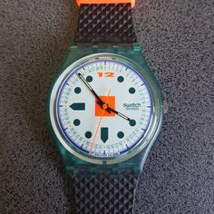 1990 GN106 Swatch Watch Hopscotch Gently NEW! Vintage swatch Watch Model!