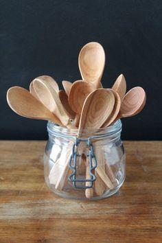Hand-Carved Beechwood Spoons In Baker's Dozen | Bohemian Home Decor: Bomisch