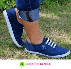MONOGRAMMED NAVY SHOES.