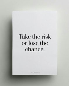 quote, chance, and risk image