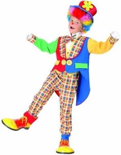 Children Clown Dressing Up Costume