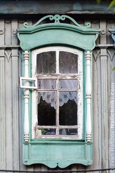 traditional decorative carved wood window frame, novosibirsk, russia | architectural details