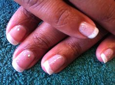 Simple sparkly glitter French by Tori