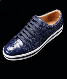 Alligator Leather Shoes Alligator Leather Lace Up Sneakers for Sale High  End Mens Shoes 5dafa359c