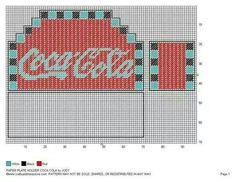 Coca Cola bills holder | Soda and Beer projects in plastic canvas ...