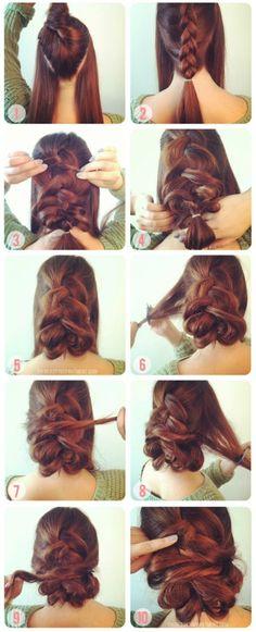 RECOGIDOS CON TRENZAS - FOTO-TUTORIAL : Peinados y cortes de cabello