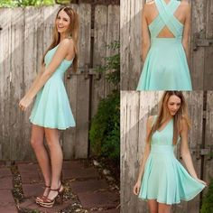 Wholesale Mint Bridesmaid Dresses Under 50 Short Chiffon Bridesmaid Dress for Beach Wedding Party Gowns A line Homecoming Gown, Free shipping, $44.51/Piece | DHgate Mobile