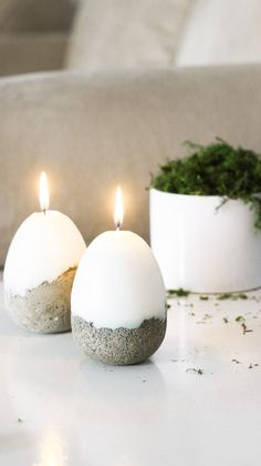 DIY Concrete Easter Candle – Candle Making Diy Candles Easy, Cute Candles, Homemade Candles, Scented Candles, Diy Candle Ideas, Diy Candels, Beeswax Candles, Ostergeschenk Diy, Easy Diy