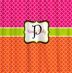 Custom Personalized Quatrefoil Shower Curtain  Hot by redbeauty, $78.00
