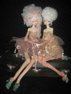 DIM bellosse & kassia on doll chateau bodies by phantomdolls, via Flickr
