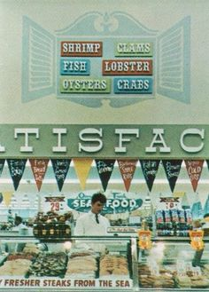 A classy seafood department at Stop & Shop. Norwalk, CT, early 1960's. Allcolor Company, Inc. photo, via Progressive Grocer.