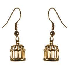 Les Bijoux De Sophie Bird Cage Drop Earrings ❤ liked on Polyvore featuring jewelry, earrings, accessories, cage jewelry, earring jewelry and drop earrings