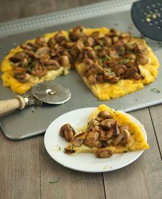 Mushroom Polenta Pizza 7 Points +