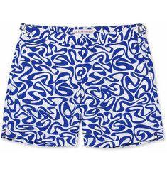 Orlebar BrownBulldog Mid-Length Water-Print Swim Shorts