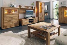 tetszik: fa anyag/struktura NEM: vitrin vilagitas es falipolc (Modern tölgyfa nappali és étkező bútorok)
