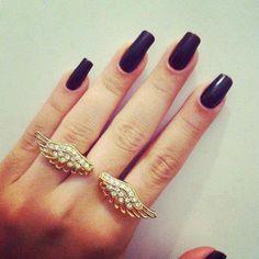 unhas pretas (eu amo esmalte preto!)