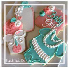 Custom baby girl cookies for an adorable baby shower! Tastries Bakery, Bakersfield Bakery