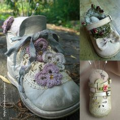 Altered baby shoes