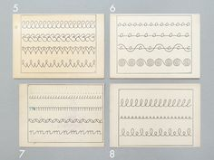 french handwriting cards.