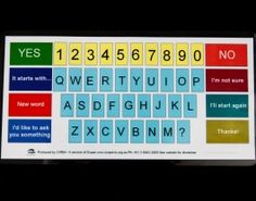 Alphabet Board and numerous other communication aids. Brittney Bowen