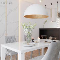 🇵🇱 A Paradyz CALACATTA márvány kerámiaburkolata az egész nappalinak eleganciát kölcsönöz!  Szuper dizájn a @polilinia.design -tól! 👏 . .  An amazing living room design by @polilinia.design!  The marble tiles from the #Calacatta collection on the wall gives the whole interior a lot of taste and elegance! 👌 . . . #ceramikaparadyż #stone #style #architecture #inspiration #design #homedecor #marble #ceramictiles #tiles #designtiles #floor #wall #floortiles #walltiles #home #bathroom #livingroom Marble Tiles, Wall Tiles, Calacatta, Living Room Designs, Dining Table, Flooring, Architecture, Elegant, Interior