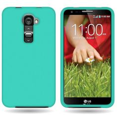 Amazon.com: CoverON® Hard Rubberized Slim Case for LG G2 VS980 (Verizon Only) - with Cover Removal Pry Tool - Teal: Cell Phones & Accessorie...