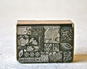 Botanically Inspired Letterpress Dingbats or Ornaments for Printing Stamping and Clay Stamping