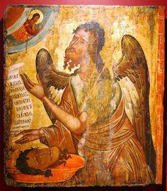 Byzantine Icons, Orthodox Christianity, John The Baptist, Orthodox Icons, Religious Art, Fresco, Saints, Religion, Artwork